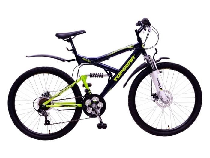 Велосипед горный Top Gear 4Rest 225 диаметр колес: 26, размер рамы: 20, 18 скоростей, черный/зеленый, ВН26428Н