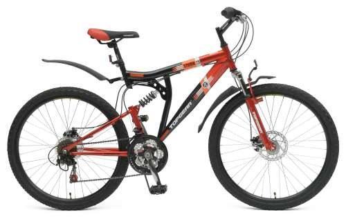 Велосипед двухколёсный Top Gear Shimano черно-красный ВН26388Н