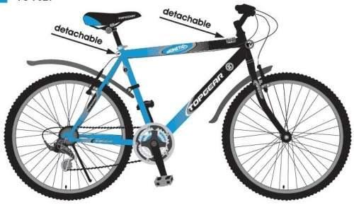 Велосипед двухколёсный Top Gear Kinetic 100 16,5 сине-черный ВН26419Н автокосметика top gear