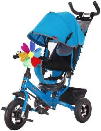 Велосипед трехколёсный Moby Kids Comfort 10x8 AIR 10/8 синий 641052 велосипед moby kids comfort ultra 12 10 синий