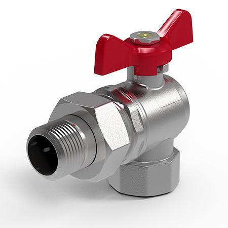 Кран шаровый угловой Royal Thermo OPTIMAL 3/4 НГ бабочка клапан royal thermo optimal обратный 2 rto 07037