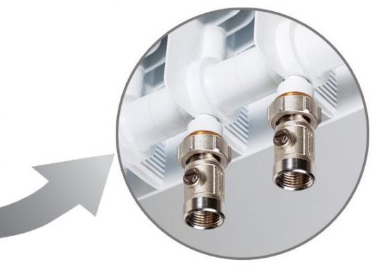 Биметаллический радиатор RIFAR Monolit Ventil 350 4 сек. лев. (Кол-во секций: 4; Мощность, Вт: 536;