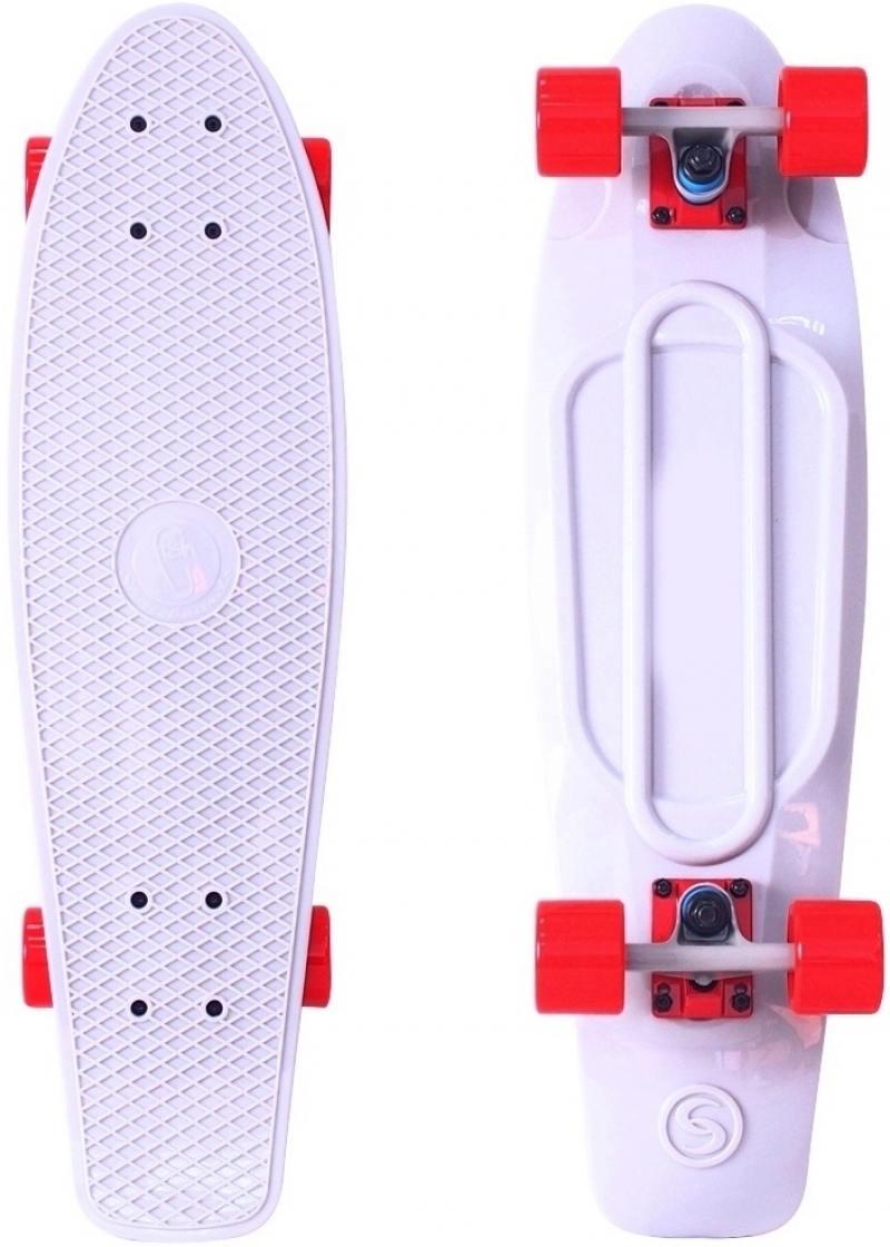 Скейтборд Y-SCOO Big Fishskateboard 27 RT винил 68,6х19 с сумкой WHITE/red 402-W lifelike fish style fishing lure w hook red white