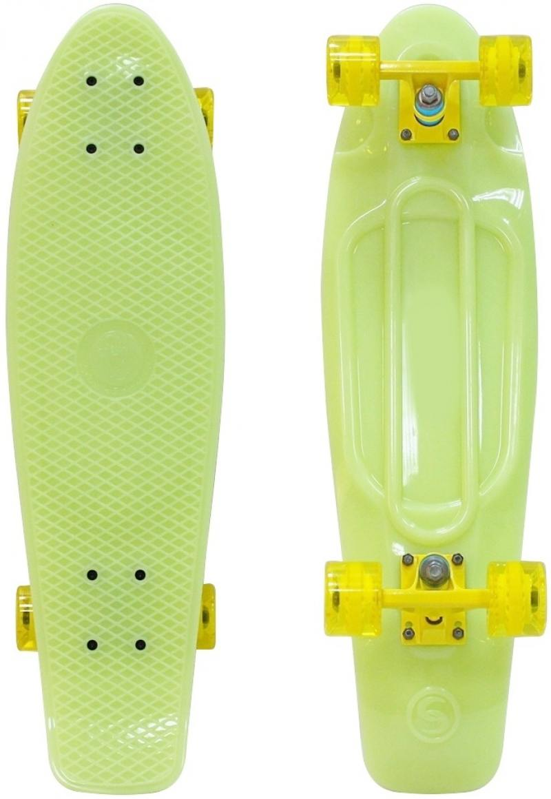 Скейтборд Y-SCOO Big Fishskateboard GLOW 27 RT винил 68,6х19 с сумкой YELLOW/yellow 402E-Y r deer rt 2270 7 stainless steel cutter pliers yellow black silver