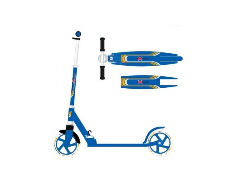 Самокат двухколёсный Explore Target синий цена