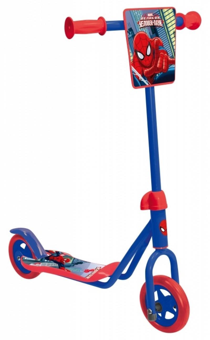 Самокат двухколёсный 1TOY Marvel: Человек-паук синий 8887856584142 1toy самокат spider man