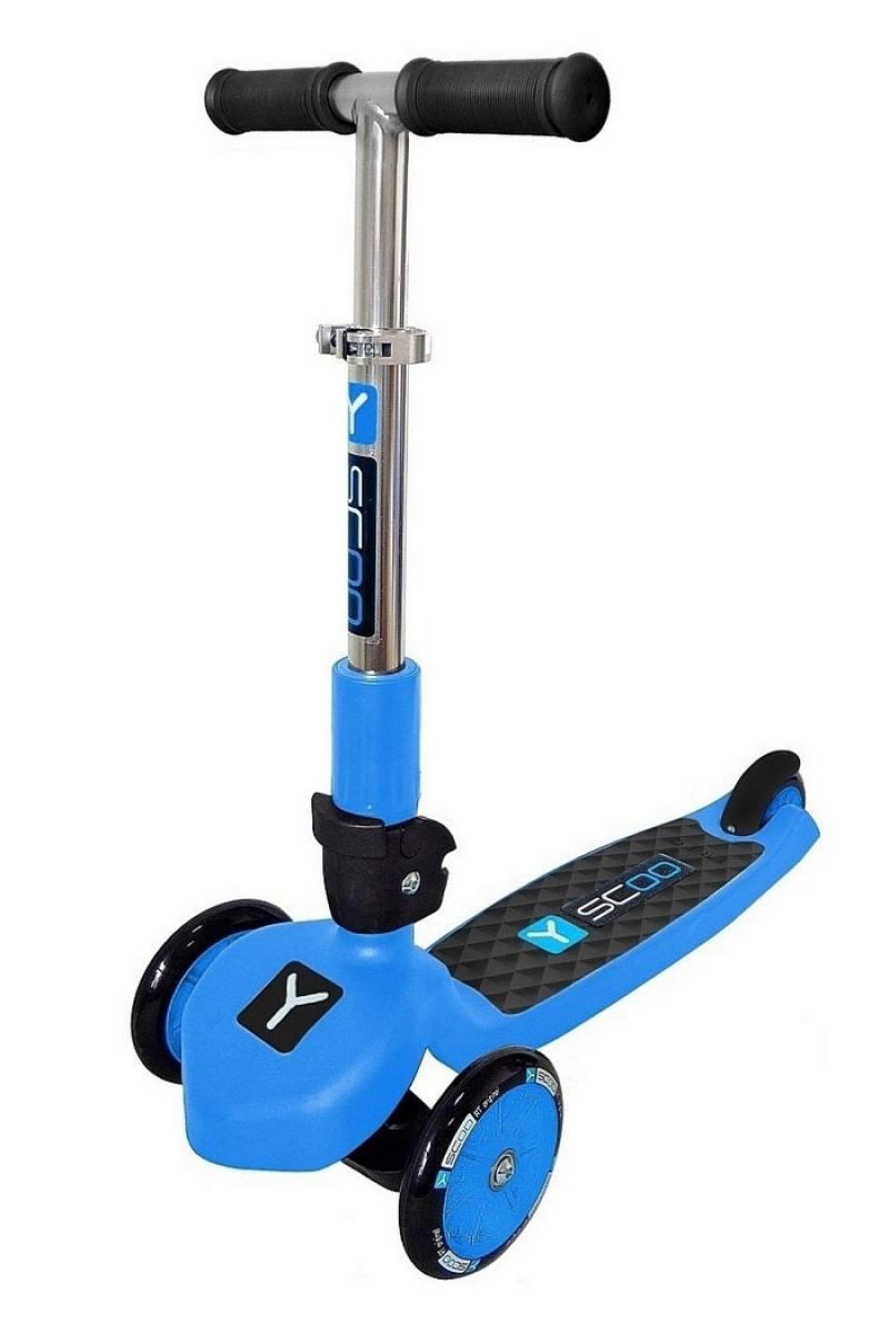 купить Самокат трехколёсный Y-SCOO RT TRIO 120 NEON синий недорого