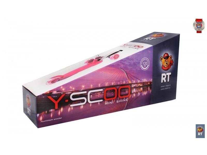 Самокат трехколёсный Y-SCOO Mini Shine A5 фиолетовый самокат трехколёсный y scoo y scoo 35 maxi fix simple розовый