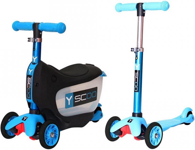 Самокат-каталка трехколёсный Y-SCOO Mini Jump&Go aqua 5/3 голубой самокат трехколёсный y scoo y scoo 35 maxi fix simple розовый