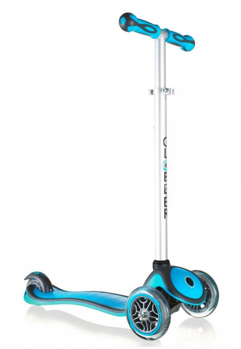 Самокат трехколёсный Y-SCOO RT GLOBBER My Free NEW Technology голубой