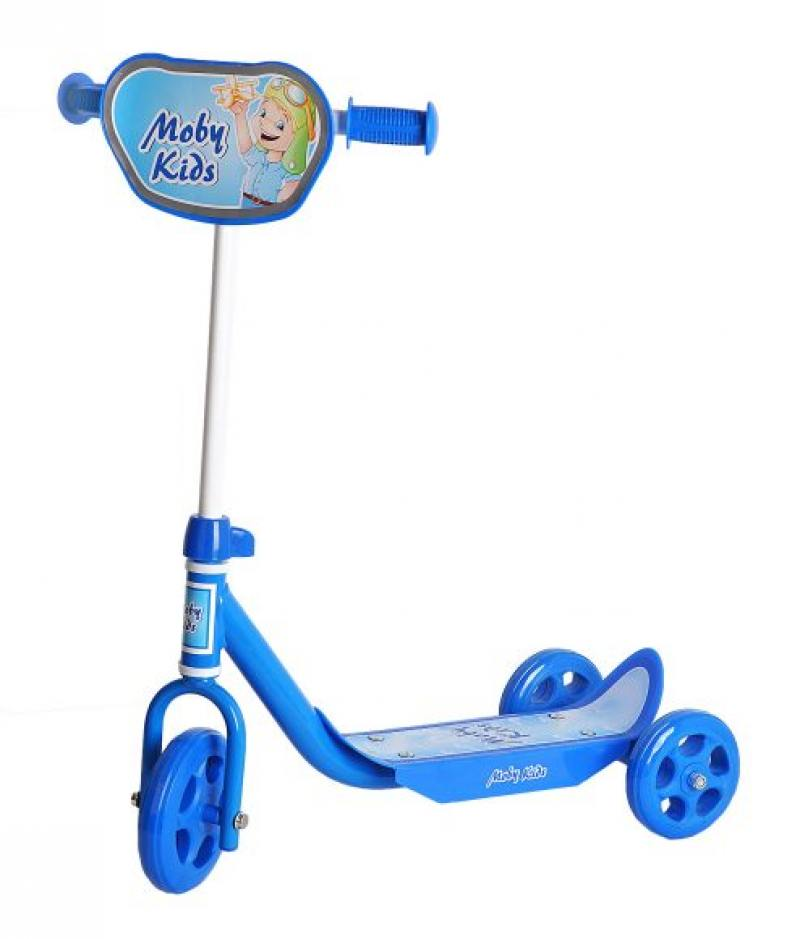 цена на Самокат трехколёсный Moby Kids Мечта синий 64638