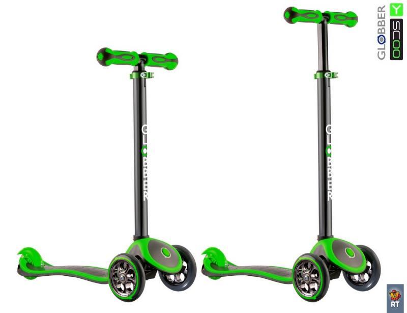 цена на Самокат трехколёсный Y-SCOO Globber My free Titanium neon зеленый 401367