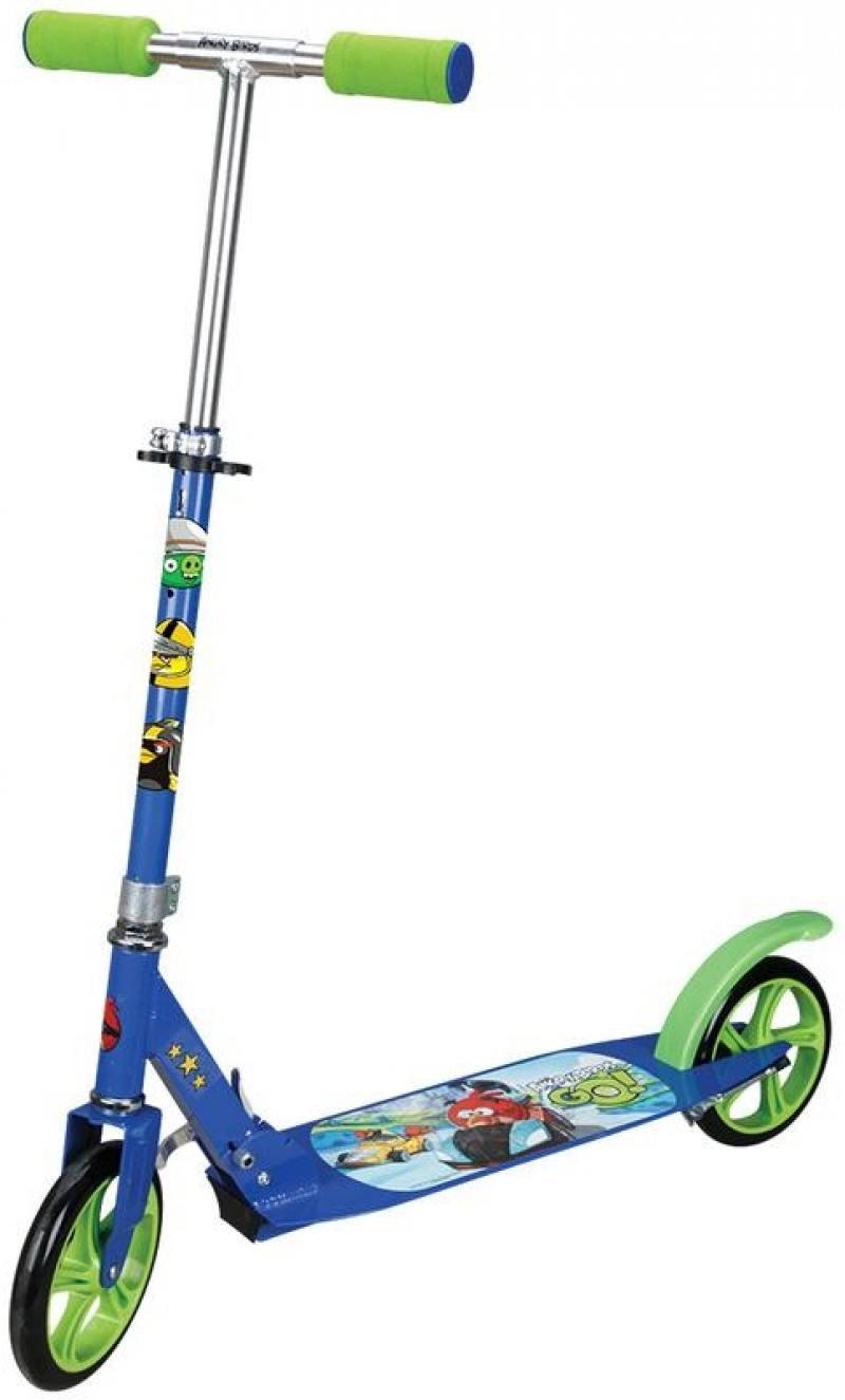Самокат двухколёсный 1TOY Angry Birds Go синий Т57646