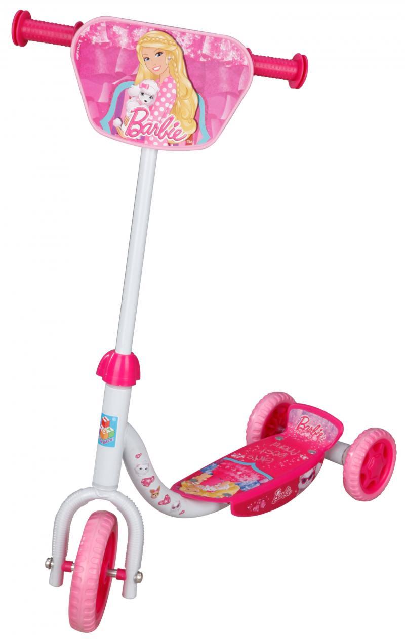 Самокат трехколёсный 1TOY Barbie EVA 6