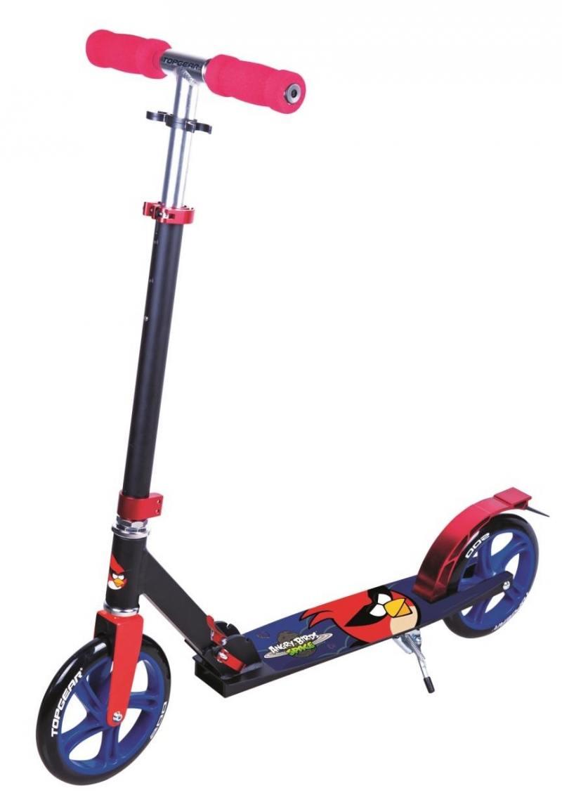 Самокат двухколёсный Top Gear Angry Birds велосипед навигатор angry birds ab 1 тип 12 синий двухколёсный вн12068