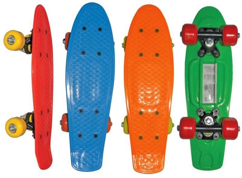Скейт Navigator пласт.,кол.ПВХ 42х38мм без света, втулки ПВХ, пласт.траки, 42х12х8см, 4 цв. в ассорт