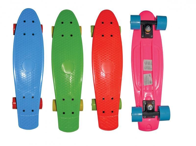 Скейт Navigator пласт.,кол.ПВХ 57х42мм без света, втулки ПВХ, пласт.траки, 56х15х9,5см, 4 цв. в ассо скейт navigator т59495