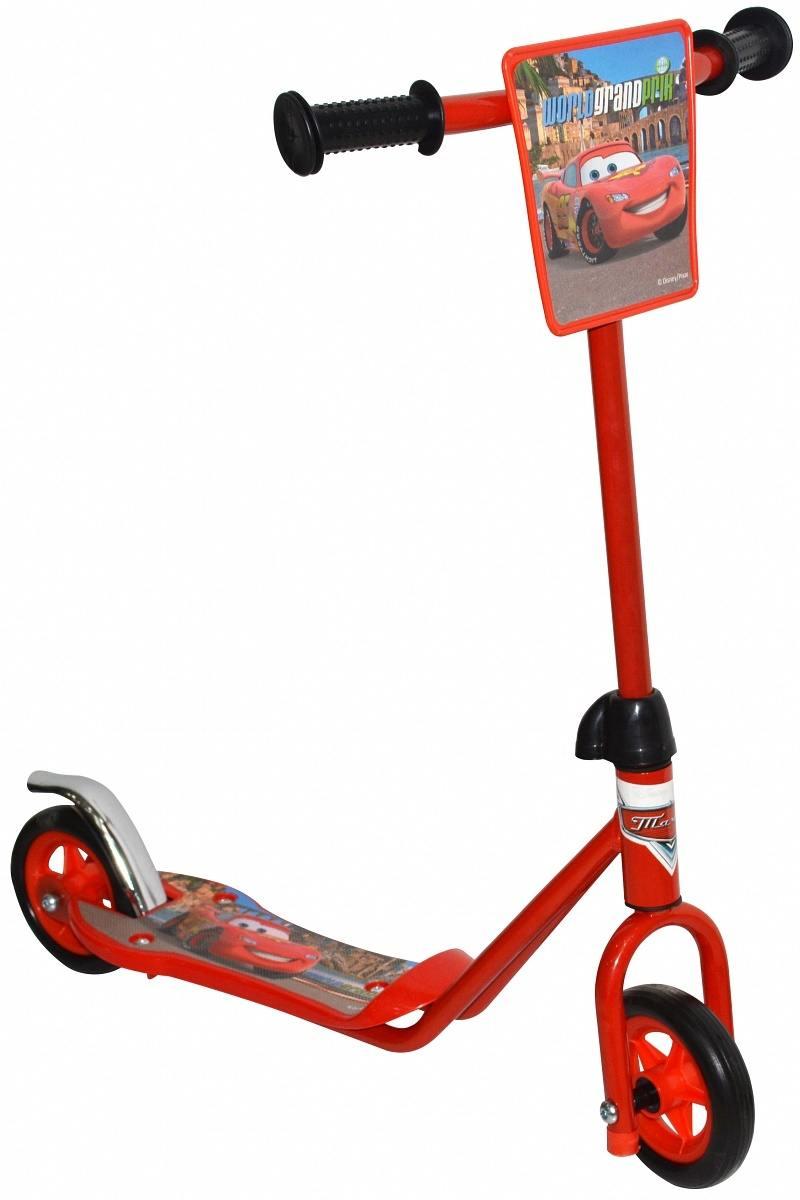 Самокат двухколёсный 1TOY Disney Тачки красный цена 2017