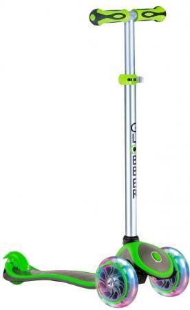 Самокат трехколёсный Globber EVO 4 in 1 PLUS 4*/3* зеленый globber globber самокат с сиденьем evo 4 в 1 plus c подножками и 3 светящимися колесами голубой