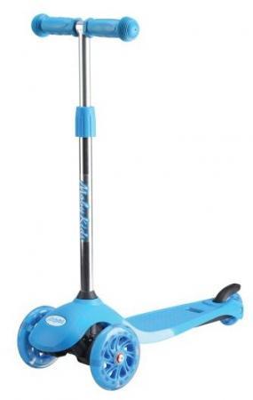 Самокат трехколёсный Moby Kids Junior Light 2.0 120/76 мм синий 641135