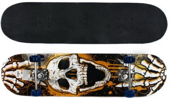 Скейтборд Shantou Gepai Skull 79х20 см, PVC колеса 635081 цена 2017