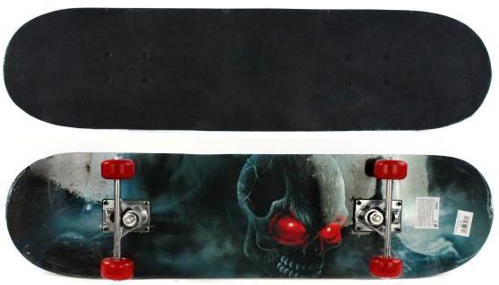 Скейтборд Shantou Gepai Darkness 79х20 см, PVC колеса цена 2017