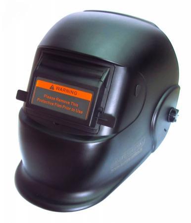 Маска сварочная AURORA BLACK GLASS  с подним. светофильтром