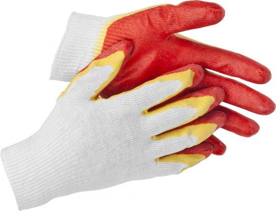 Перчатки STAYER MASTER трикотажные, двойная обливная ладонь из латекса, х/б, 13 класс, L-XL [11409 перчатки мма everlast перчатки тренировочные prime mma l xl