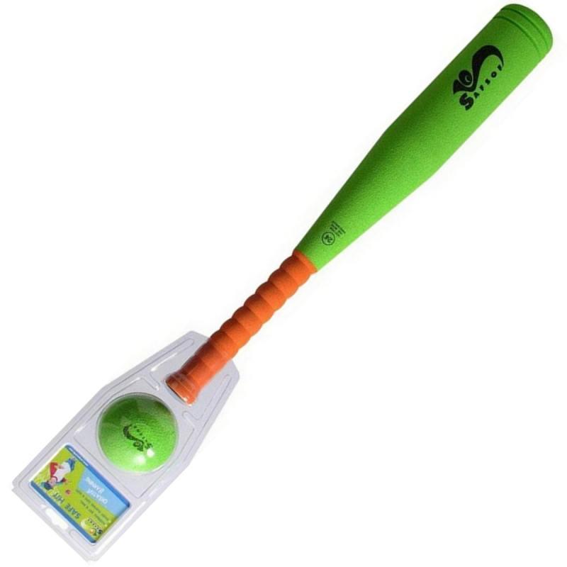 Спортивная игра семейная SafSof бита бейсбольная малая safsof игровой набор бейсбольная бита и мяч цвет зеленый желтый