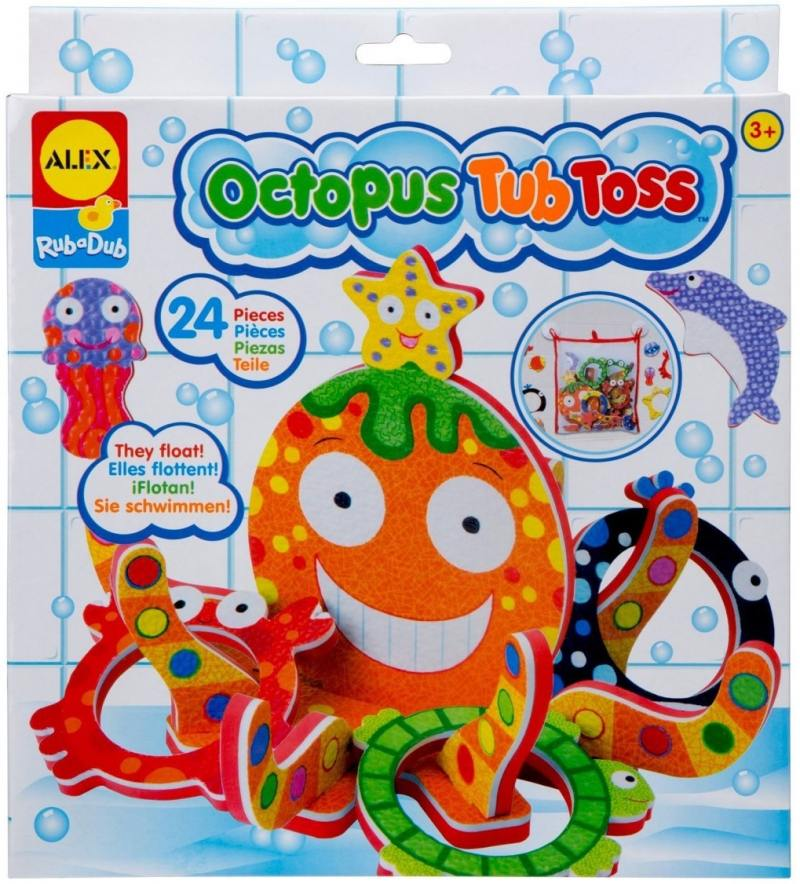 Спортивная игра развивающая Alex Кольцеброс Осьминожка для ванны alex игрушки для ванны 3 цветные лодочки