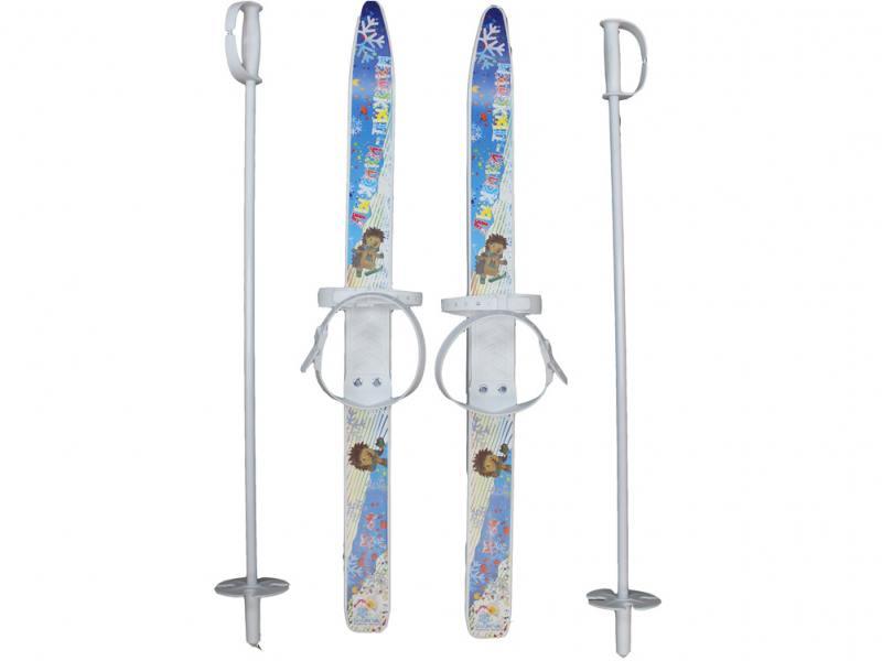 Лыжи детские Лыжики пыжики с палками 75 см 66521 коврик для мыши asus rog whetstone black red 90mp00c1 b0ua00