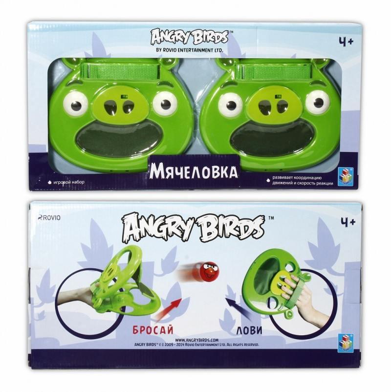 Спортивная игра 1Toy Angry Birds Мячеловка - Свинья Т56600 деревянная игра angry birds 1toy