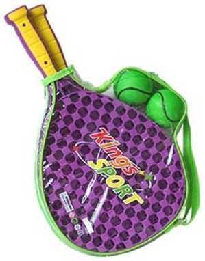 1toy набор для тенниса, ракетки пластмас. 41х13 см, 2 мячика, прозрач. чехол 41х13х3см 1toy mookie игра спортивная twin jumbo catch 2 стаканчика 2 мячика 135999
