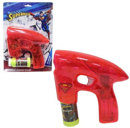 1toy Superman, мыл. пистолет, светится в темноте, звук, бут. 45 мл, блистер