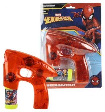 1toy Marvel Человек Паук, мыл. пистолет, светится в темноте, звук, бут. 45 мл, блистер