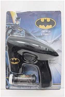 1toy Batman, мыл. пистолет, светится в темноте, звук, бут. 45 мл, блистер