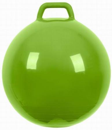 МалышОК Мяч Прыгун с ручкой o500мм зеленый в подарочной упаковке