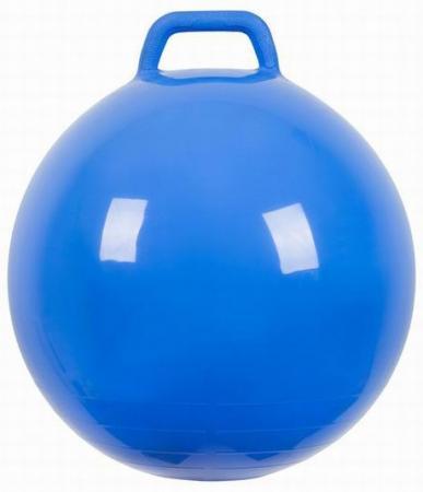 МалышОК Мяч Прыгун с ручкой o500мм синий в подарочной упаковке
