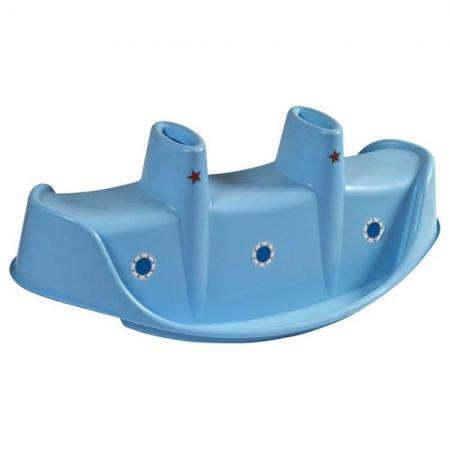 Качалка для троих - Пароход (голубой)
