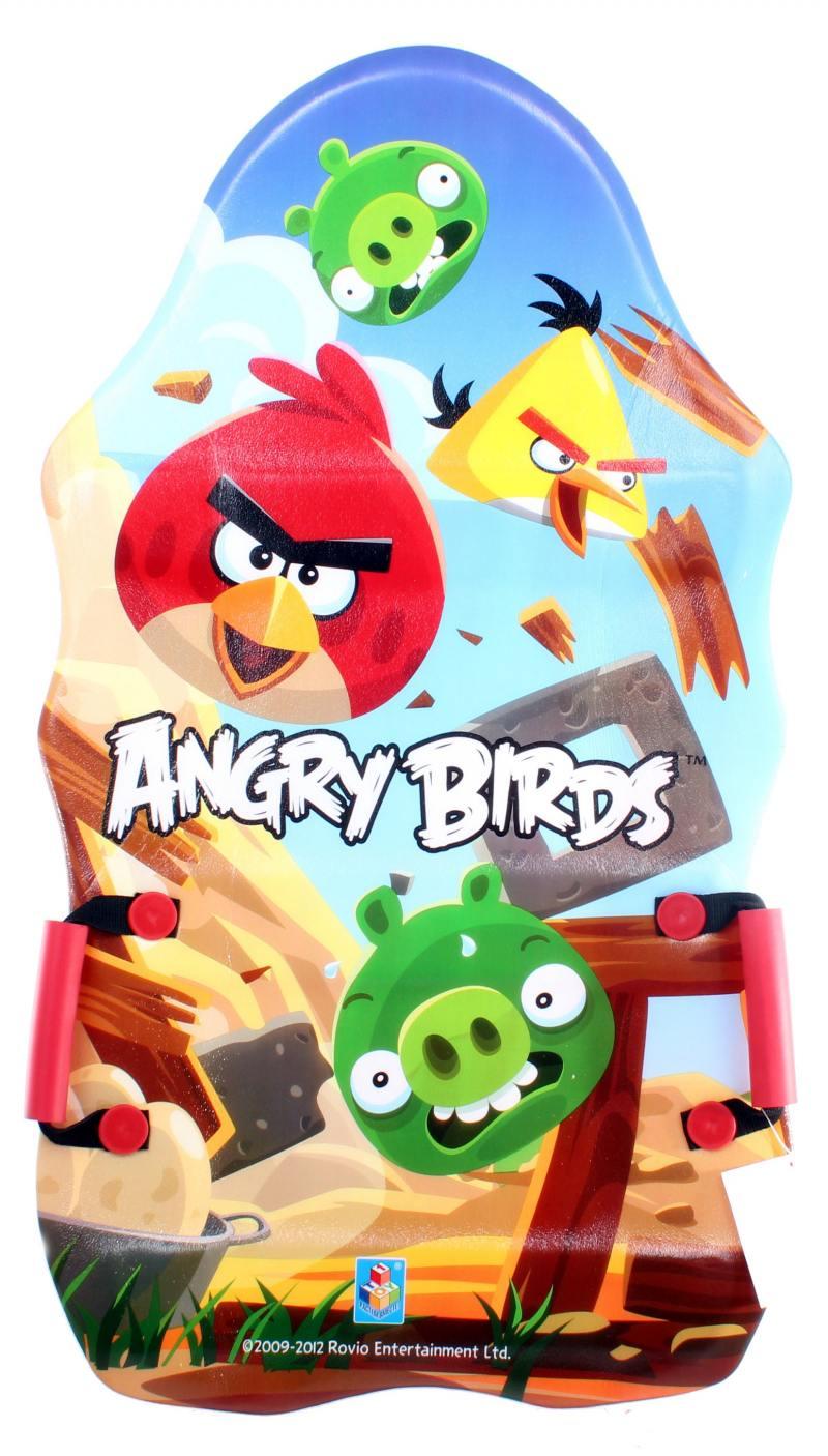 Ледянка 1Toy Angry Birds пластик рисунок ледянка выпуклая с плотными ручками 94см angry birds 1toy