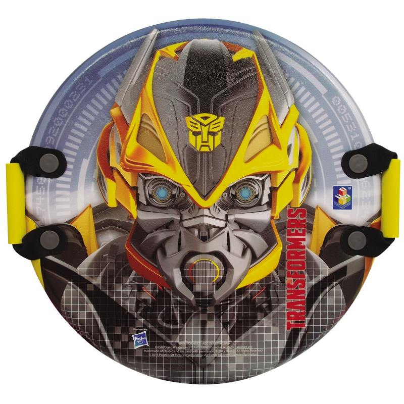 Ледянка 1Toy Transformers круглая с плотными ручками до 100 кг ПВХ пластик рисунок Т56913 ледянка winx 54х2см круглая с ручками уп 12 1toy
