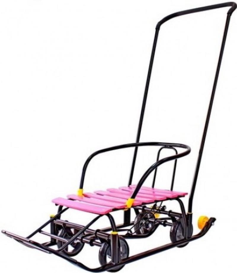 Снегомобиль Snow Galaxy Black Auto розовые рейки на больших мягких колесах тюбинги r toys snow auto mini