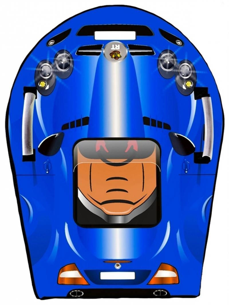 Ледянка RT SNOW AUTO L SLR MClaren синий, 64,5х46 см rt snow auto mini l 6018