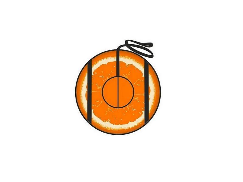 Тюбинг RT Апельсин с автокамерой до 100 кг ПВХ оранжевый 73 см. 4997 тюбинг rt камуфляж 118см blue yellow