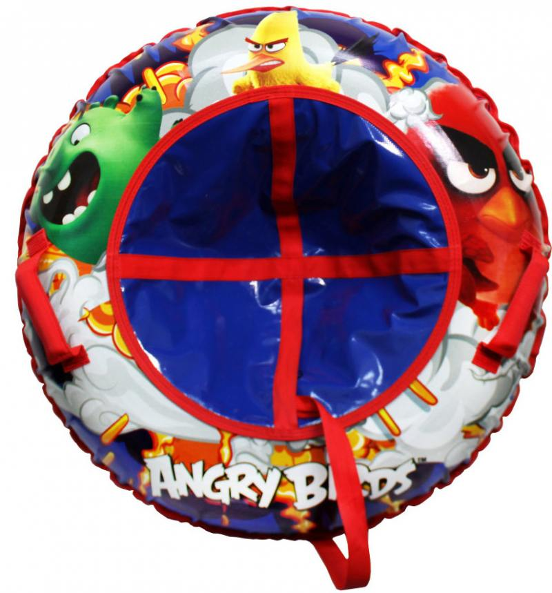 Тюбинг 1Toy Angry Birds резин.автокамера, материал глянцевый пвх 500 гр/кв.м.,100см,букс.трос,цветн.