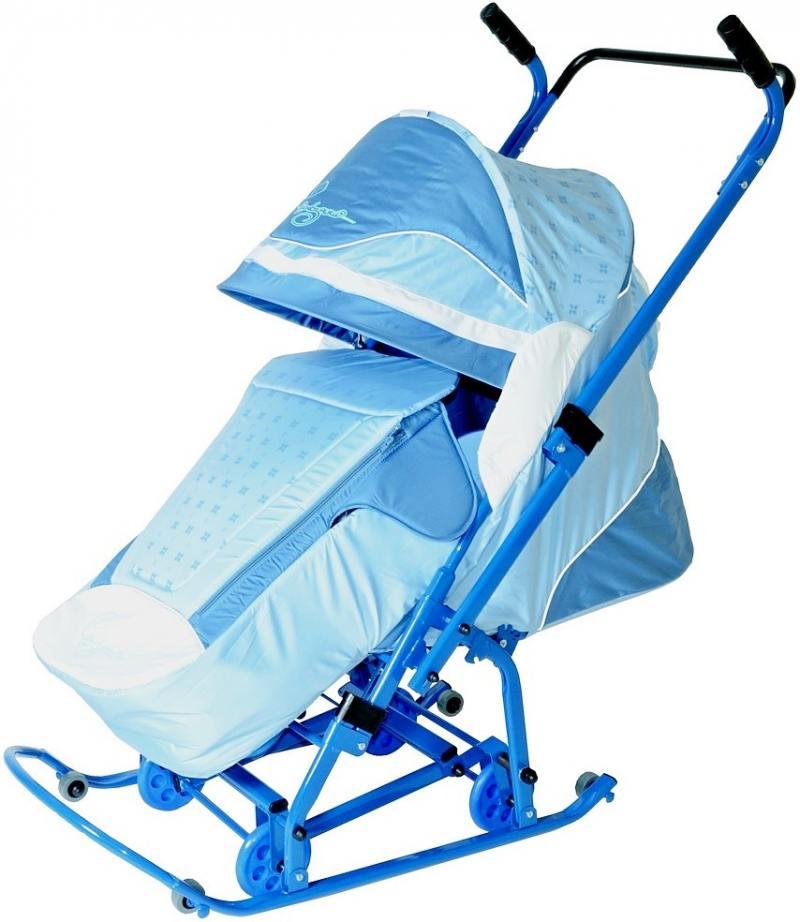 Санки-коляска Санки Снегокаты RT Скользяшки, Мозаика до 45 кг пластик металл ткань голубой васильков