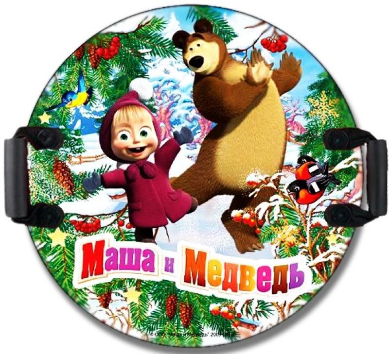 Ледянка 1toy Маша и Медведь пластик рисунок Т59046