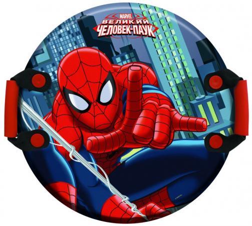 Ледянка 1Toy Marvel: Spider-Man 54см, кругл.с плотн.ручками, универсальная ледянка 1toy marvel spider man 54см кругл с плотн ручками универсальная