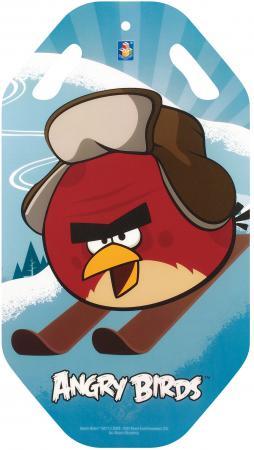 Ледянка 1Toy Angry Birds пластик голубой Т57212 ледянка выпуклая с плотными ручками 94см angry birds 1toy