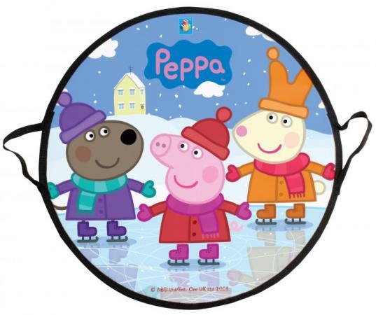 Купить Ледянка 1Toy Peppa 52 см, круглая, Peppa Pig, Санки, снегокаты, тюбинги